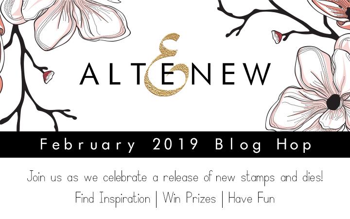 Altenew February 2019 Blog Hop Graphic