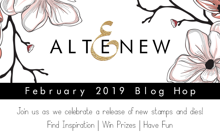 Altenew February 2019 Blog Hop Graphic