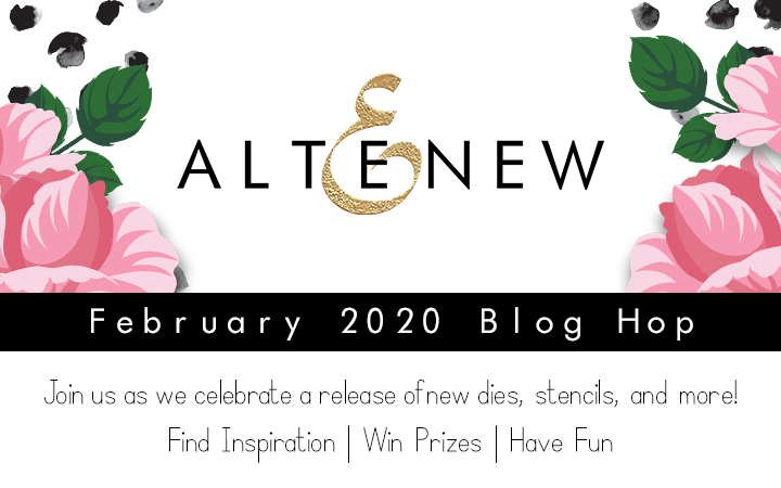 Altenew Feb 2020 Blog Hop Graphic